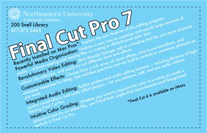 Final cut pro 7 flyer