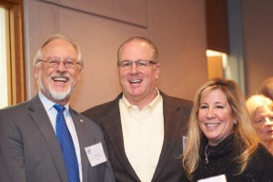 Dean Wakeling with Jim Smith, E'88 and Amie Smith, AS'87