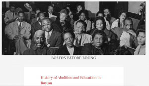 Screen shot of Boston Before Bussing Exhibit