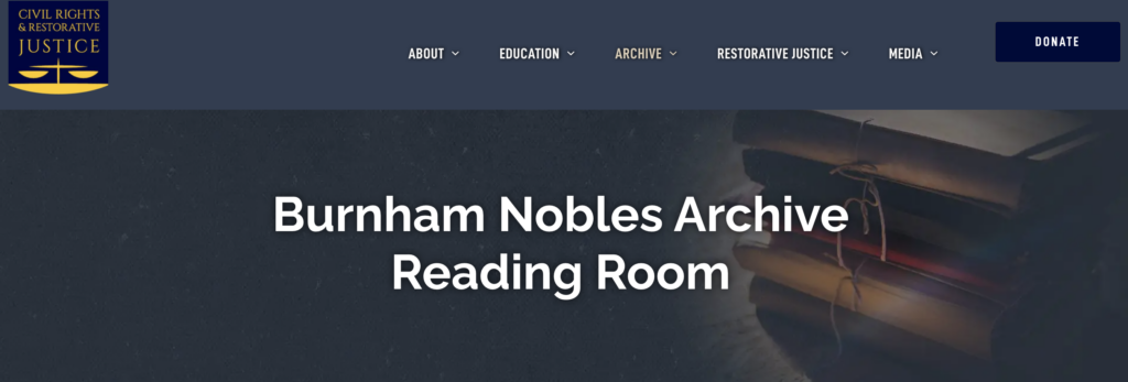 Burnham-Nobles Reading Room Website Screenshot